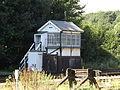 Shepherds Well railway station, Signal box, EG06, August 2013.JPG