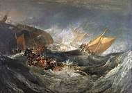 The Wreck of a Transport Ship, c. 1810, oil on canvas[38]