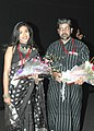 Shri Saibal Mitra, (Director) and Ms Rituparna Sengupta at the presentation of the film Songshoy during the 37th International Film Festival (IFFI-2006) in Panaji, Goa on November 26, 2006.jpg
