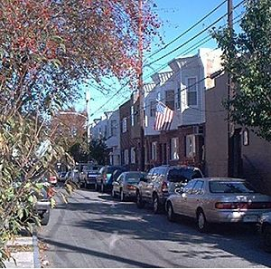 Port Richmond, Philadelphia - Salmon Street, a typical area side street
