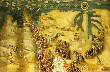 The Siege of Malta - Flight of the Turks, by Matteo Perez d'Aleccio Siege of malta 3.jpg