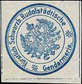Siegelmarke F. Schwarzb. Rudolstädtische Gendarmerie W0390173.jpg