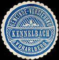 Siegelmarke Gemeinde-Vorstehung Kennelbach - Vorarlberg W0261579.jpg