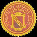 Siegelmarke Stadtrat der Residenz-Stadt Karlsruhe W0348170.jpg