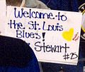 Sign welcoming Chris Stewart to St. Louis Blues 5047 (5484795811).jpg