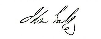 John Galt (novelist) - Image: Signature of John Galt
