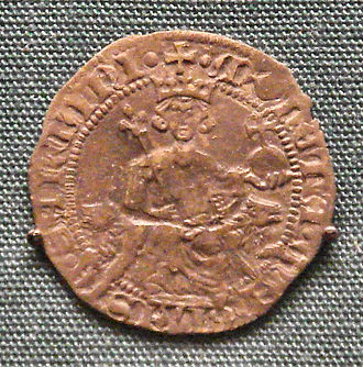 Gigliato - Silver gigliato of Sarukhan, Bey of Magnesia, 1313-1348, ruler of Lydia, western Turkey.