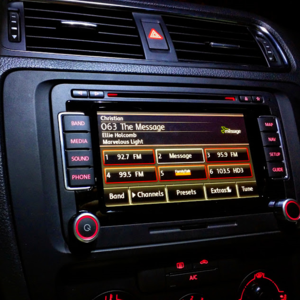 Sirius Satellite Radio - Volkswagen's RNS-510 radio offers SiriusXM Radio with station logos as well as TravelLink.