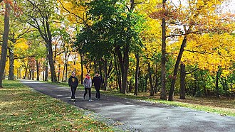 Montgomery Township, New Jersey - Residents walking in Skillman Park