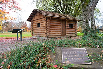 Eugene, Oregon - Replica of Skinner's original cabin