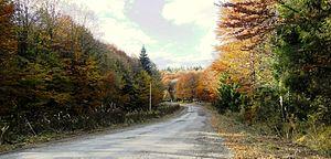 Skole Beskids - Image: Skole Beskids. Mountain road