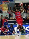 Slam-dunk by Jamont Gordon at all-star PBL game 2011