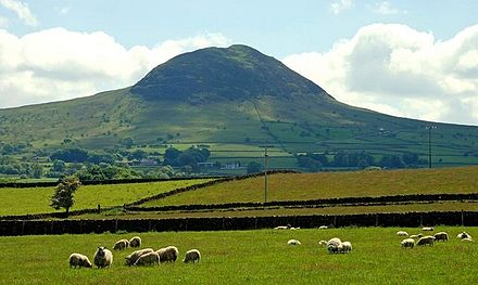 Slemish, County Antrim, traditionally associated with Saint Patrick's time as a shepherd slave. Slemish (8) - geograph.org.uk - 834986.jpg