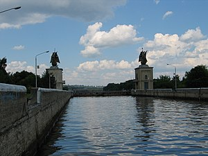 Yakhroma River - A sluice at the crossing of the Yakhroma and the Moscow Canal