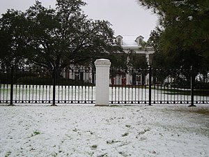 Louisiana Governor's Mansion -  Governors mansion on December 11th, 2008 during a very rare Louisiana snowfall