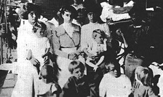 Clipperton Island - Mexican survivors from Clipperton Island, 1917