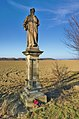Socha svatého Jana Sarkandera u mostu přes Bečvu u silnice na Troubky, Tovačov, okres Přerov.jpg