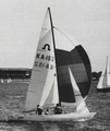 Soling KA 152 Evagas during the 1988-89 Australian Championship.png