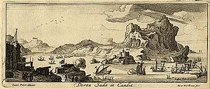 Souda Bay - View of Souda bay by Jan Peeters, 1690