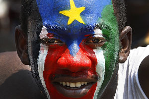 Self-determination - Southern Sudanese expressed joy and jubilation on their day of independence, July 9, 2011, from Sudan.