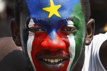 Southern Sudanese expressed joy and jubilation on their day of independence, July 9, 2011, from Sudan. South Sudan Independence Celebration (5963420792).jpg