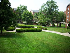Residence life at Ohio University - The South Green as seen from near Wray House