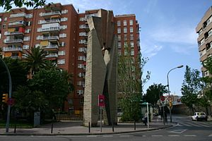 Eulalia of Barcelona - Stylized X-shaped Cross of Santa Eulalia in L'Hospitalet