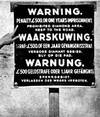 Sperrgebiet - Sperrgebiet warning sign from the 1940s