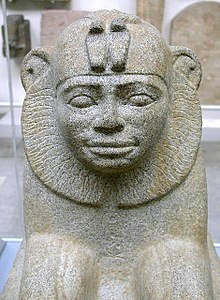 Granite sphinx of Taharqa from Kawa in Sudan