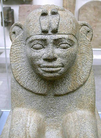 Taharqa - Granite sphinx of Taharqa from Kawa in Sudan