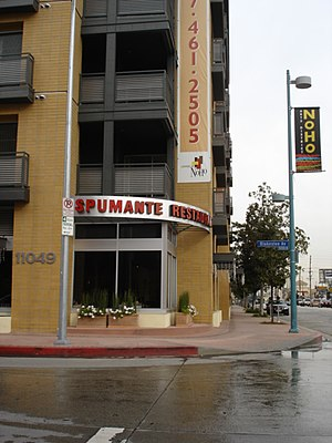 NoHo Arts District, Los Angeles - Mixed-use apartment and restaurant on Magnolia Blvd.