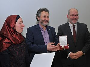 Tarafa Baghajati -  On February 2016 Tarafa received the Golden Medal of the Province of Vienna