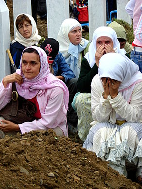 Srebrenica Massacre - Reinterment and Memorial Ceremony - July 2007 - Women Mourners 2.jpg