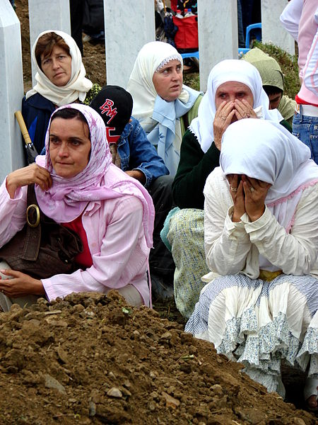 File:Srebrenica Massacre - Reinterment and Memorial Ceremony - July 2007 - Women Mourners 2.jpg
