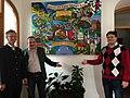 Städtepartnerschaft von Gars am Kamp mit Gars am Inn. Partnerschaftsgemälde von Matthias Laurenz Gräff im Rathaus von Gars am Inn.jpg