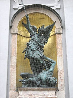 The Archangel Michael vanquishing Luzifer