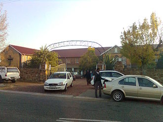 St Catherine's School, Germiston - The main gate of St. Catherine's on a school morning.