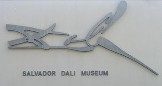 Salvador Dalí Museum - Salvador Dalí's signature as seen on the outside of the museum