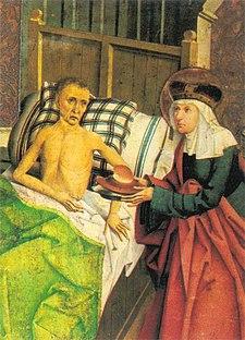 Sant'Agnese cura gli infermi, particolare di un tela del XV secolo