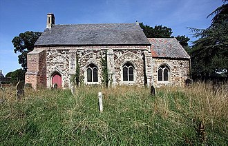 Friends of Friendless Churches - A simple stone church, consisting of a nave and a smaller chancel, seen from the south