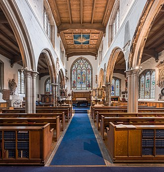 St Olave Hart Street - Interior of St Olave Church