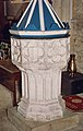 St Peter, St Paul and St Thomas of Canterbury, Bovey Tracey, Devon - Font - geograph.org.uk - 1730483.jpg