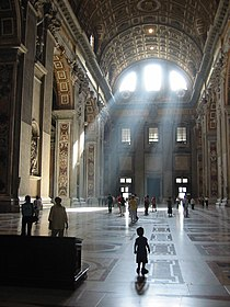 St Peter Basilica light streams.jpg