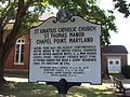 St Thomas Manor Historic Marker Sept 09.JPG