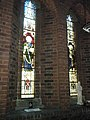 Stained glass windows near the side altar at St Peter's, Somers Town - geograph.org.uk - 1485015.jpg