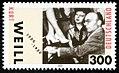 Stamp Germany 2000 MiNr2100 Kurt Weill.jpg