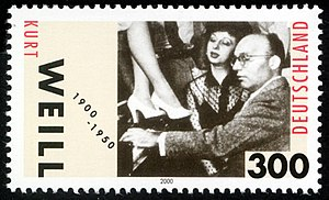 Kurt Weill - German stamp commemorating Weill
