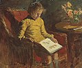 Stanhope Forbes A Girl Reading in a Wicker Chair.jpg