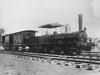 Queensland A10 Neilson class locomotive - N° 3 on display for the Railway Pageant at Ipswich in 1936