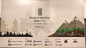 state of the map asia 2017 conference poster displayed during the conference